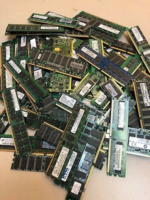 17.1 lbs Lot of DDR DDR2 Computer Server Ram Memory For Scrap Gold Recovery ONLY