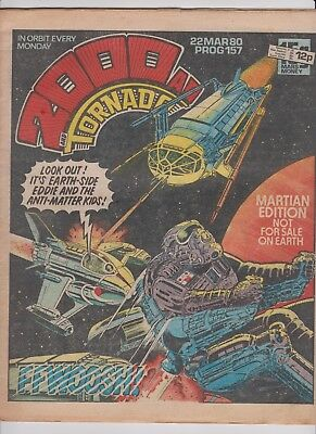 2000AD Prog 157 March 1980 Judge Dredd Black Hawk Robo-Hunter The V.C's.