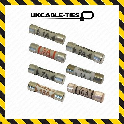 28X Mixed Ceramic Household Domestic Mains Plug Top Fuses Electrical Cartridge