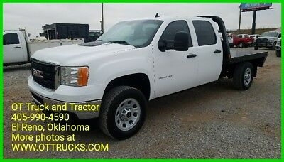2011 GMC Sierra 3500 Work Truck 2011 GMC Sierra 3500HD 4wd Crew Cab Flatbed 6.6L Duramax Diesel Single Wheel
