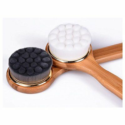 Bath Brush Soft Bristle Body Brush with Long Bamboo Handle Non-slip Shower Brush