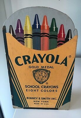 Rare! Vintage 1940s Crayola In Store Tabletop Display Sign Advertising
