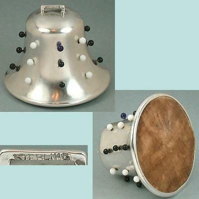 Antique Sterling Silver Figural Bell Pincushion * American * Circa 1890s