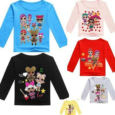 lol surprise dolls Cartoon Game kids T-shirts Tops tshirts girls tops Party