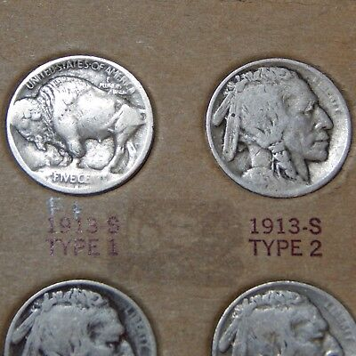 COMPLETE BUFFALO NICKEL COLLECTION 1913-1938 VG+ VERY NICE!! low reserve!!