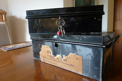 Two Old Metal Deed Storage Boxes