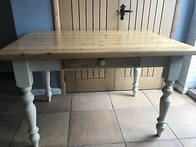 Solid pine farmhouse kitchen/dining table. Vintage,retro,shabby chic