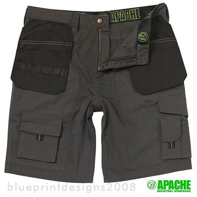 Apache Apchk Trade Grey / Black Professional Cargo / Combat Work Shorts