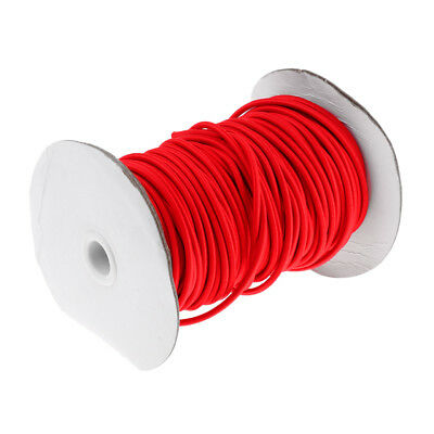 4mm Red Elastic Bungee Rope Shock Cord Roof Racks Boats Tie Down 0.5 - 75m