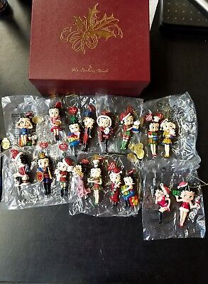 Lot of 17 Betty Boop Danbury Mint Ornaments Previously Owned