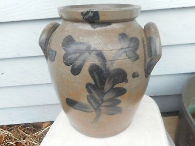 C. 1850-1870 highly decorated American Stoneware Jar.  Decorated Stoneware Jar