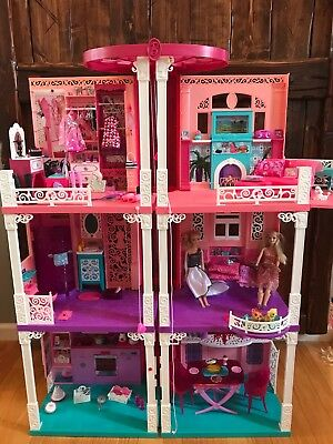Barbie Dream House 2013 With Working Elevator And Everything You See
