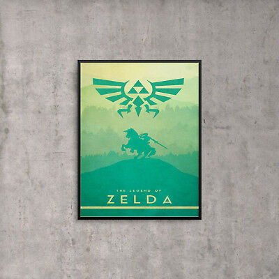 The Legend of Zelda Print Poster Wall Art A4 Snes Nintendo Link Gaming -1079