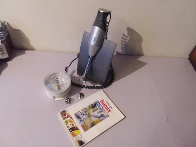 Bamix M200 M 200 2 Speed Handheld Blender Mixer With Stand And Book