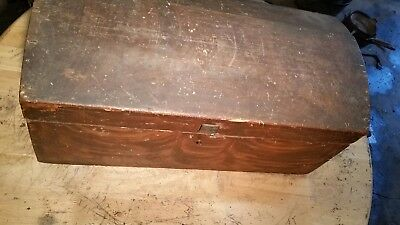 Document Dome Top Trunk Treasure Chest Wooden Box Dld Curve Top