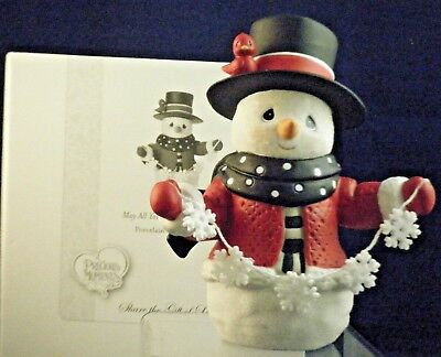 """2017 Precious Moments Annual Snowman Fig """"May All Your Christmases Be White""""NEW"""
