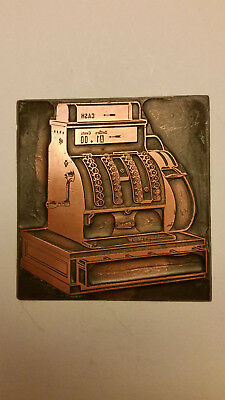 National Cash Register Advertising Printing Plate