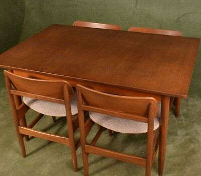 Teak MIdcentury Danish Style Table and 4 Chairs 1960's