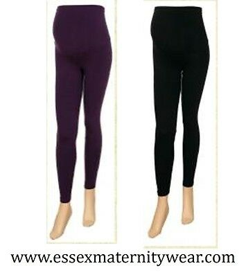 Maternity Leggings Size 6 - 18 Purple