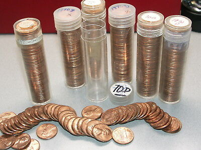1970-D Bu Roll Lincoln Penny Cents From Old Collection Un-Searched