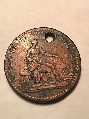 1811 British Success To The Fisheries One Penny Token