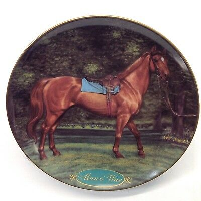 Man O War Plate Champion Thoroughbreds Collection Danbury Mint Horse Vtg