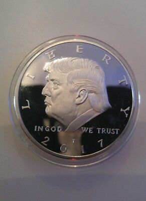 President Donald Trump 2017 silver plated EAGLE Novelty Coin, money, note,