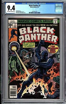Black Panther #2 CGC 9.4 9.2 OW/W Pages Free Ship