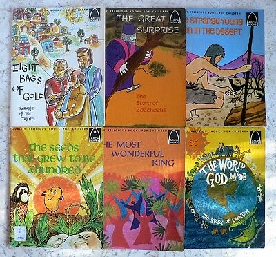 Vintage Lot of 6 ARCH Religious Books for Children 1960's BIBLE STORIES
