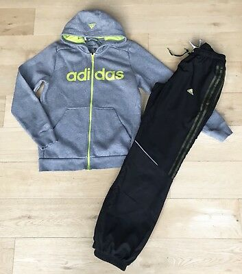 Adidas *boys Tracksuit Top 3 Stripe Messi Joggers Trousers Outfit  13 - 14 Years