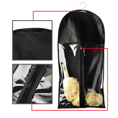 Foldable Wigs Hair Extensions Carrier Storage Case Wig Stands Dust Proof Bag