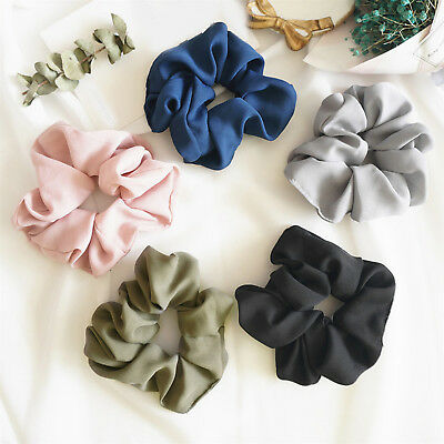 Lady Hair Scrunchie Ring Elastic Pure Color Bobble Sports Dance Scrunchie Newly