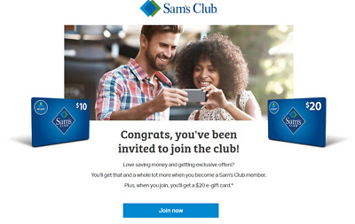 Sam's club $20 e-gift referral for New Membership Only please Read Description
