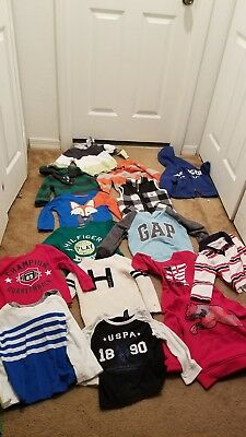 Lot of 15 Baby Toddler Boys Fall Winter Size 24 months and 2T clothes