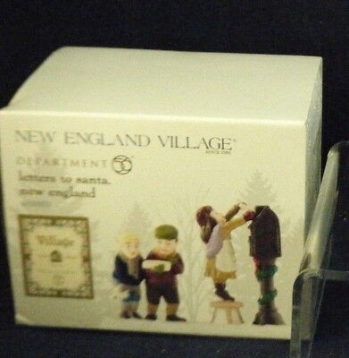 "D56 New England Village ""Letters To Santa "" 40 Anniversary Ed 4050953 NEW"