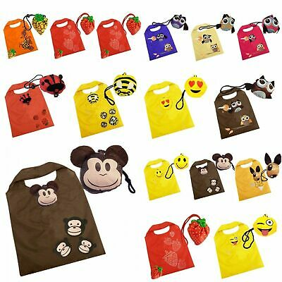 Shopping Bags Reusable Folding Eco Animal Tote Travel Fold Away Bag Novelty