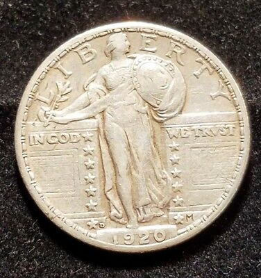 1920-D Standing Liberty Quarter Beautiful High Grade Coin Rare Date