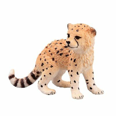 Schleich 14747 Africa Cheetah Cub Toy Figure Highly Detailed for Ages 3+