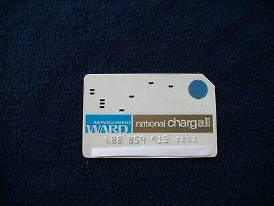 Vintage Montgomery Ward National Chargall Credit Card--1950's-1960's