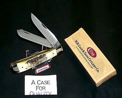 Case XX 5254 Stag Trapper USA Made Knife 9 Dot Circa~1981 W/Packaging, Papers