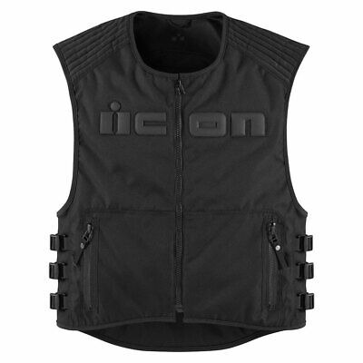 2018 Icon Mens Brigand Textile Motorcycle Vest D30 Armor Relaxed Fit - Pick Size