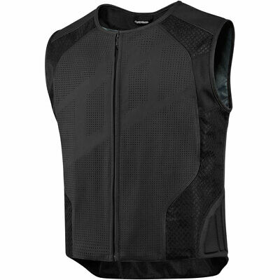 Icon Hypersport Stripped Leather Motorcycle Vest Attack Fit - Pick Size