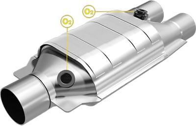 """MagnaFlow SS HEAVY METAL 2.5/""""IN//OUT CATALYTIC CONVERTER FOR UNIVERSAL #99106HM"""