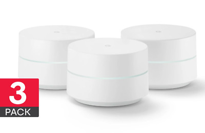 3 PACK Google Wifi Home Mesh Wifi System Wireless Router 3 Pack BRAND NEW