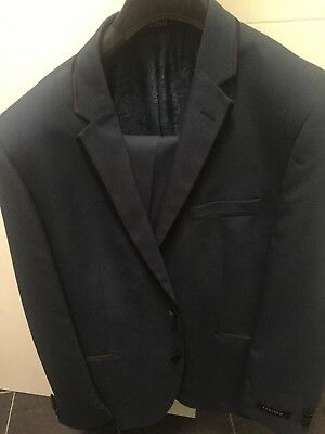 2 x Mens Navy formal suits New Wedding/ other occassion Size 44 and 42