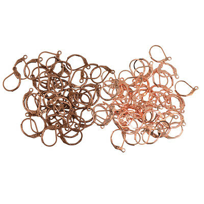 100pcs Vintage Brass French Lever Back Ear Wire DIY Earrings Connector Craft