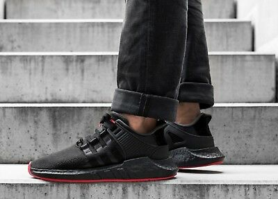 details for exclusive shoes best value ADIDAS EQT SUPPORT 93/17 Triple Black BOOST 'Red Carpet ...