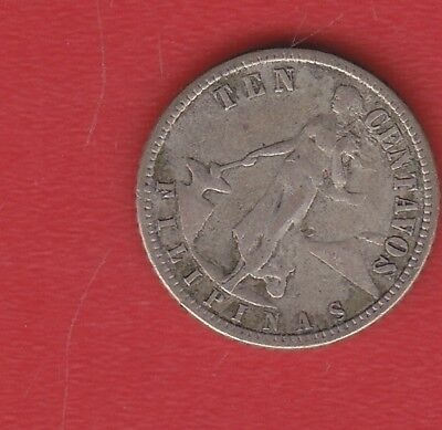 Philipinas 10 Cents 1944 Silver