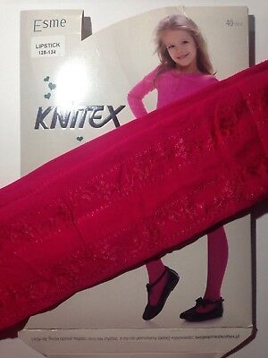 KNITTEX -GIRLS PATTERNED TIGHTS -40 DEN-SIZE-Age 7-8