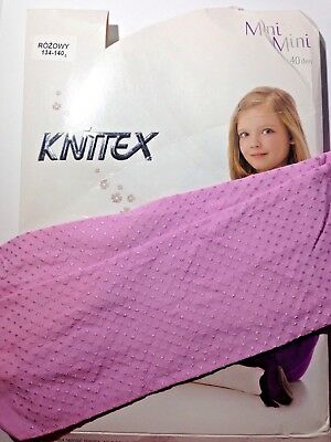 KNITTEX -GIRLS PATTERNED TIGHTS -40 DEN-SIZE-Age 8-9